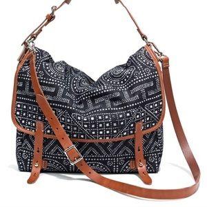 madewell • indigo dot messenger bag